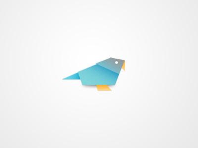 Ideas y Diseños de Logotipos tipo Origami o Plegados - Paloma de origami de Grace Han