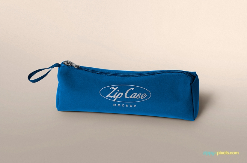 FREE PENCIL CASE MOCKUP WITH EDITABLE LOGO & COLOR by ZippyPixels