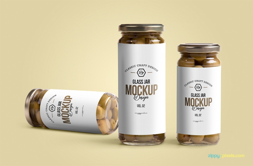 FREE GLASS JAR MOCKUP by ZippyPixels