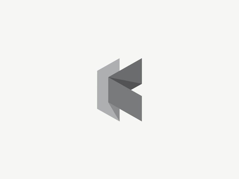 Ideas y Diseños de Logotipos tipo Origami o Plegados - Doblado K de Jonas