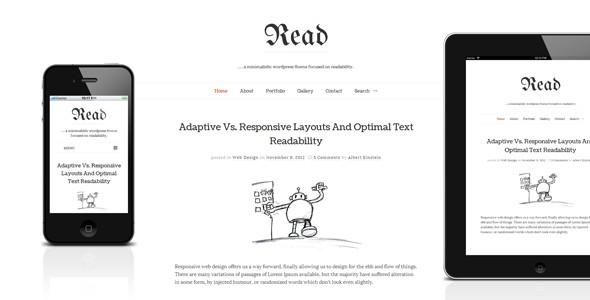 Read WP - Responsive Minimalist Blog Theme