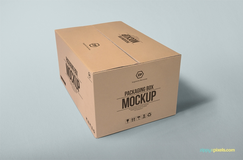 FREE PACKAGING BOX MOCKUP by ZippyPixels