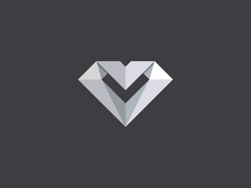 Ideas y Diseños de Logotipos tipo Origami o Plegados - Diamante de Kemal Sanli