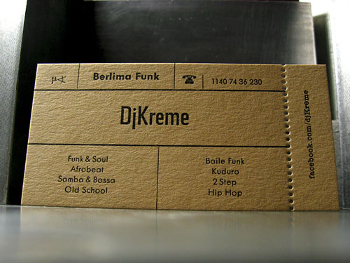DJ Kreme Business Card