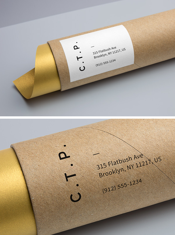 Cardboard Tube Packaging MockUp by GraphicBurger
