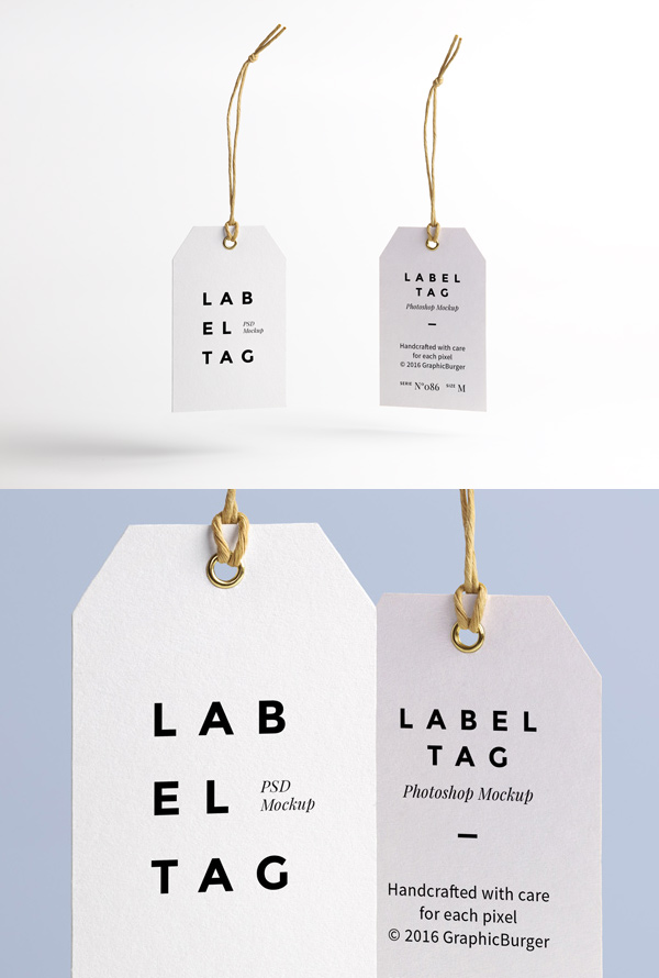 Label Tag PSD MockUp by GraphicBurger