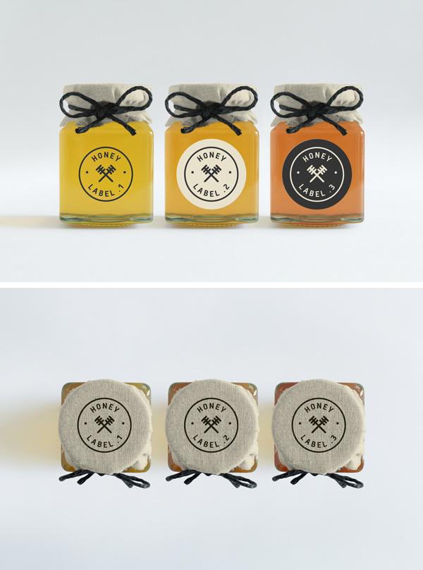 Honey Jars PSD MockUp by Ash Flint