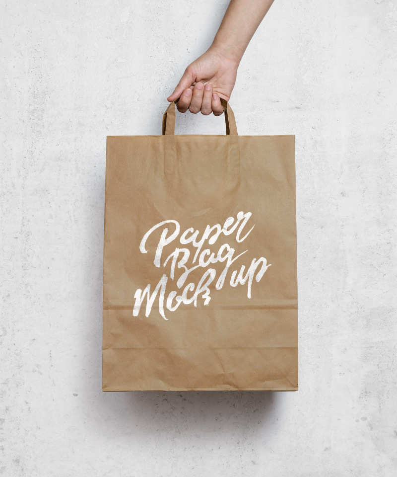 Brown Paper Bag MockUp by GraphicBurger