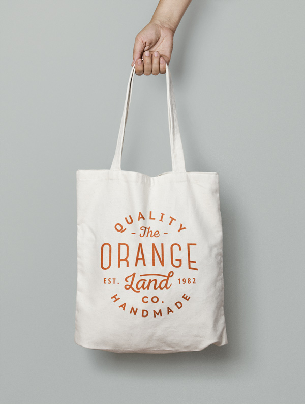 Canvas Tote Bag MockUp by GraphicBurger