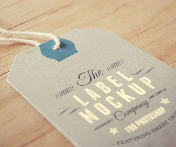 Tag label logo mockup by eamejia store