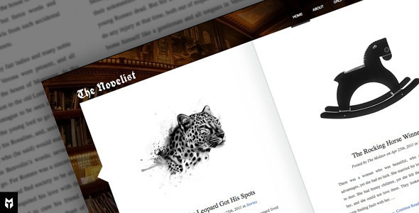 The Novelist: Responsive WP Theme for Writers