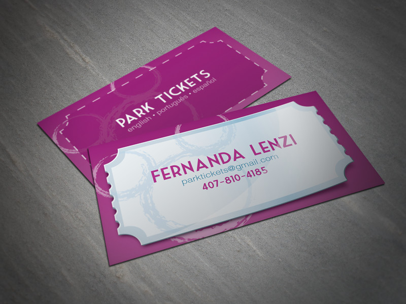 29 Unique Ticket Business Card Designs for Your Inspiration