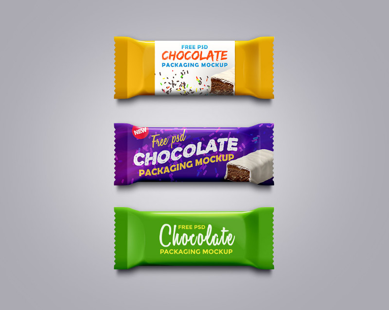 Chocolate Packaging Mockup PSD by GraphicsFuel