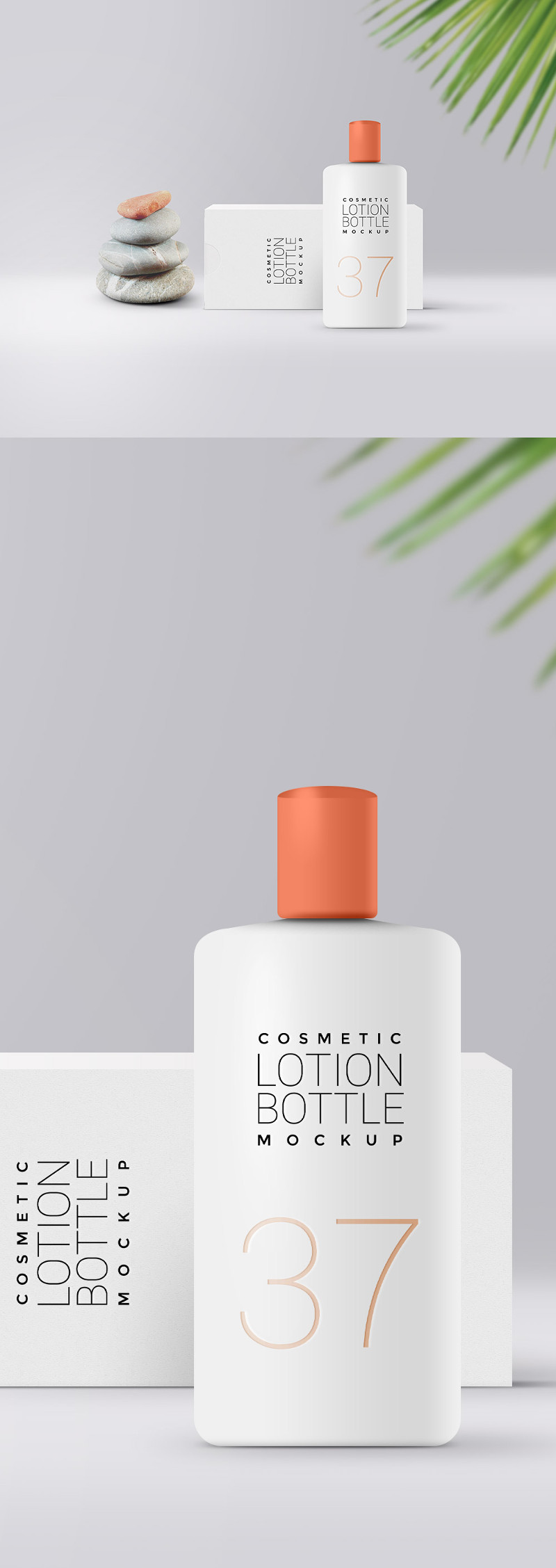 Cosmetic Lotion Packaging Mockup by GraphicsFuel