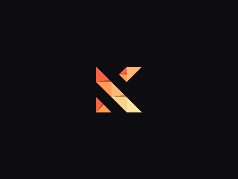 Ideas y Diseños de Logotipos tipo Origami o Plegados - Marca personal de Kushagra Agarwal