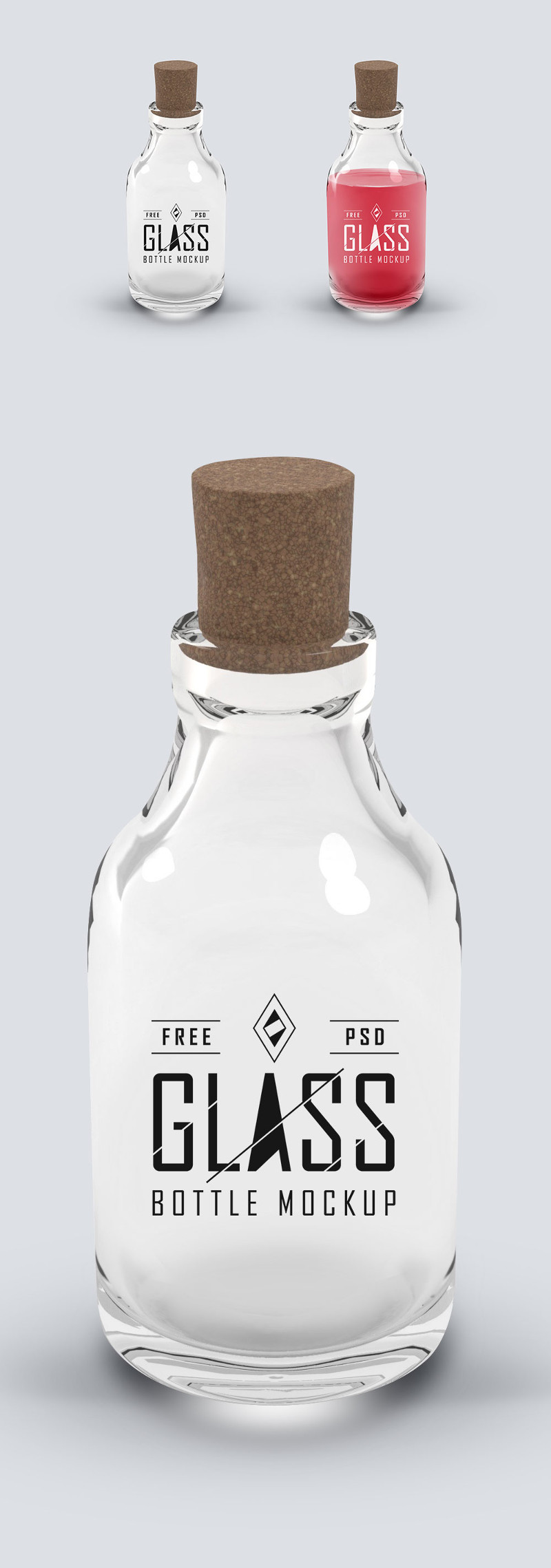 Glass Bottle PSD Mockup by GraphicsFuel