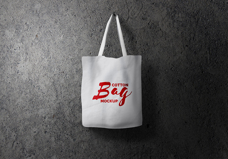 Cotton Bag Mockup PSD by GraphicsFuel