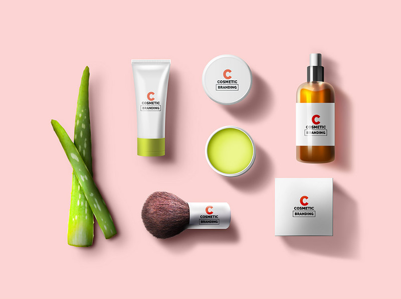 Cosmetic Branding Mockup by GraphicsFuel