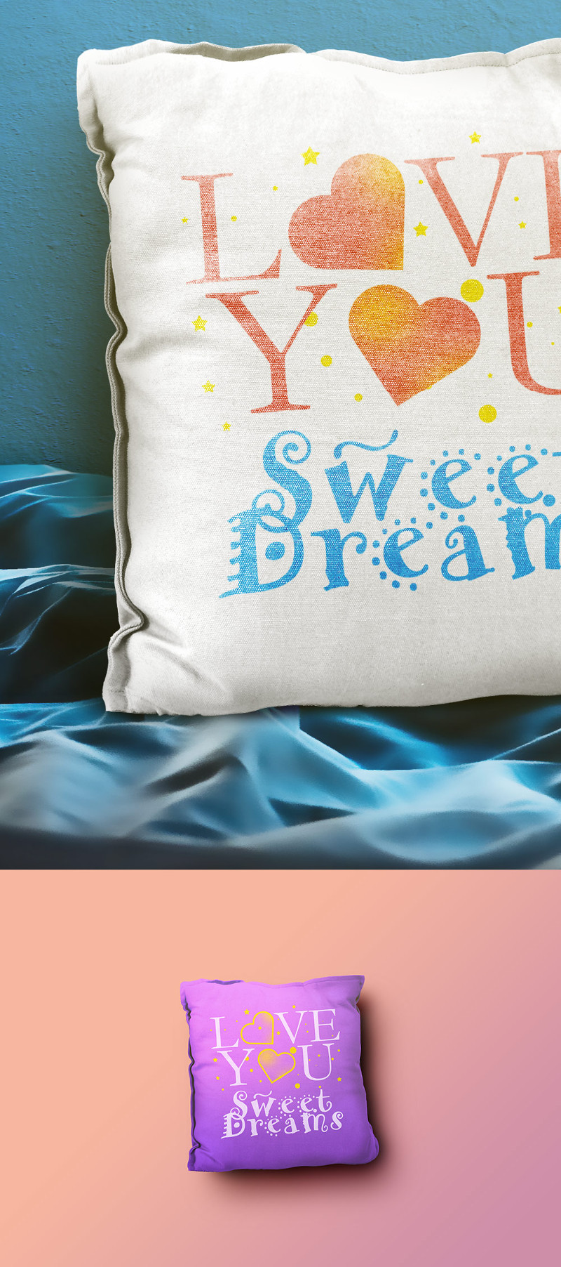 Pillow Mockup PSD Templates by GraphicsFuel