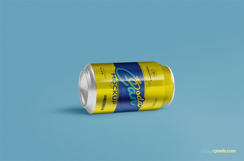 COOL SOFT DRINK CAN MOCKUP PSD by ZippyPixels