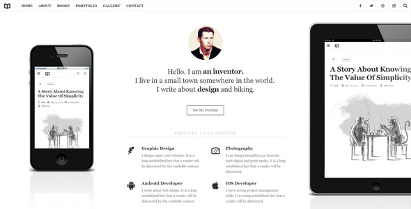 Readme - A Readable WordPress Theme