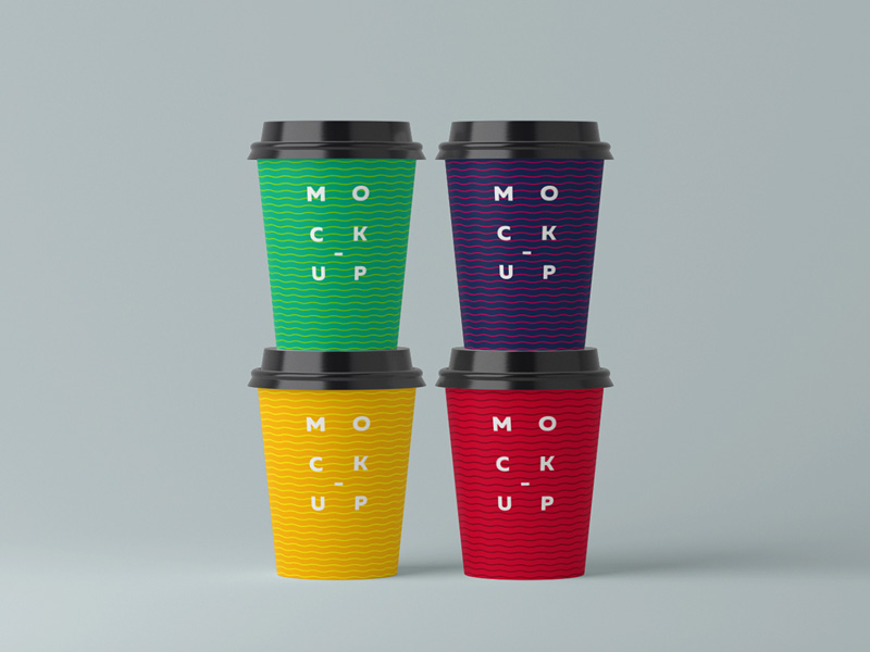 Paper Cups Mockup by Andrii Shumchuk