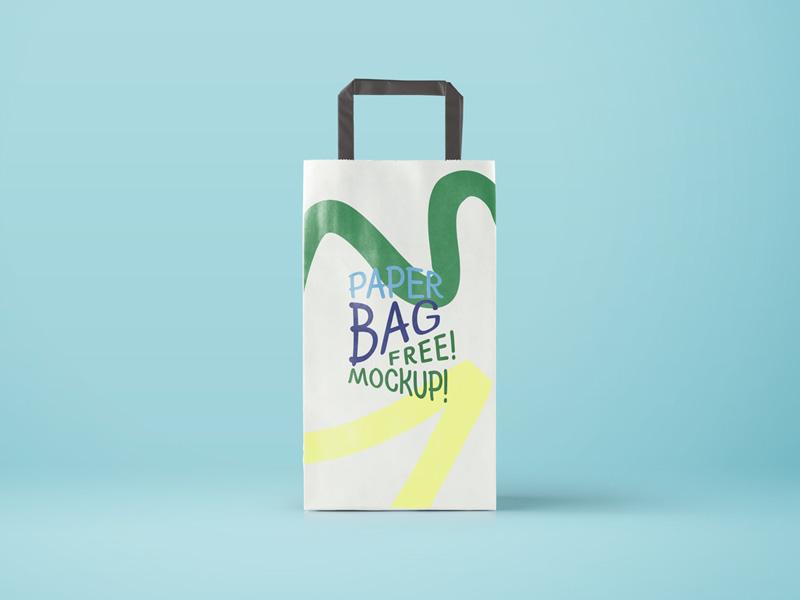 Paper Bag Mockup by Mayursinh Jadeja