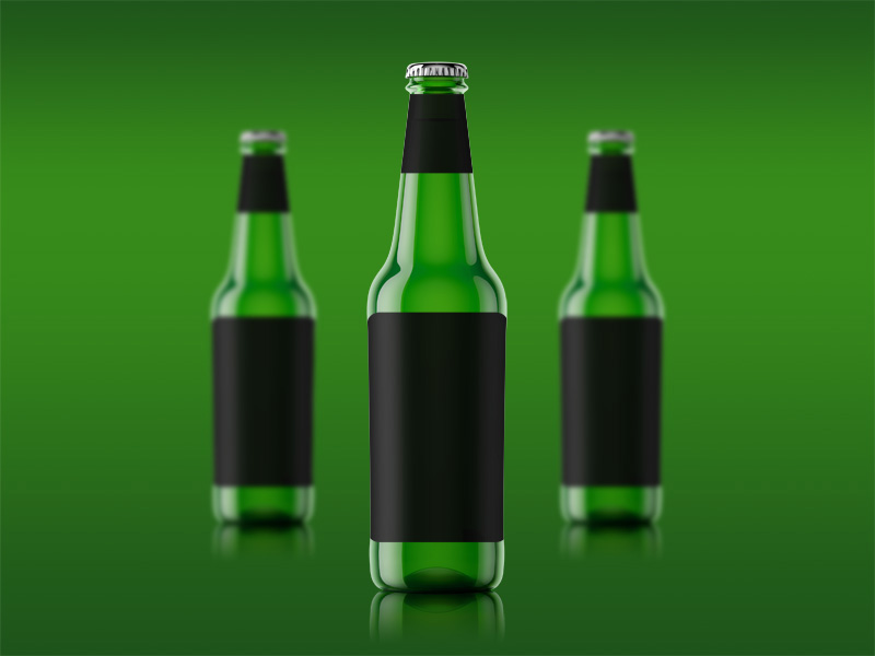Single Beer Bottle Mockup by Angelo Iannuzzi