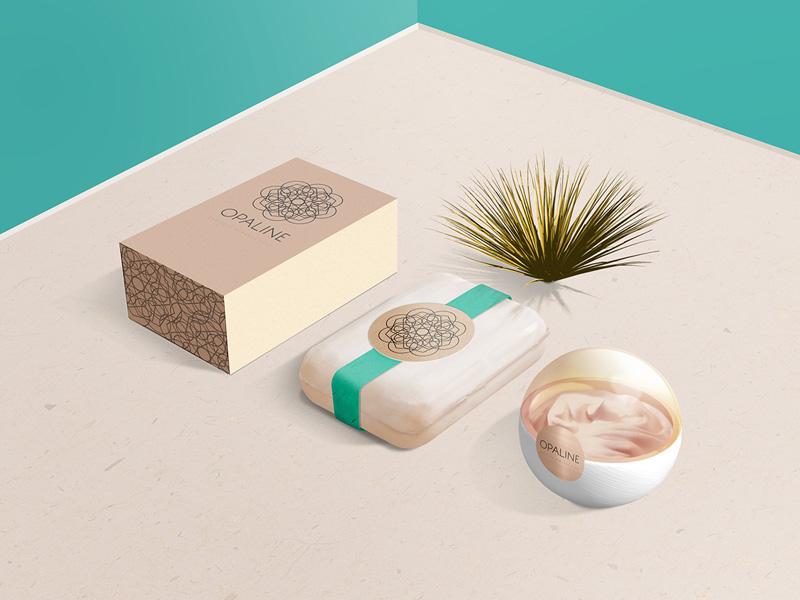 Opaline – Mockup For Cosmetic Branding by Caroline Morel