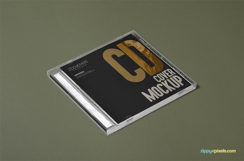 3 FREE OUTSTANDING PLASTIC CD CASE MOCKUPS by ZippyPixels