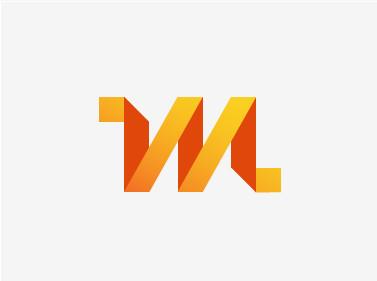 Ideas y Diseños de Logotipos tipo Origami o Plegados - MISO por Aldrich Tan
