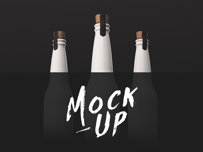 Bottle Mockup by Yann Dunant
