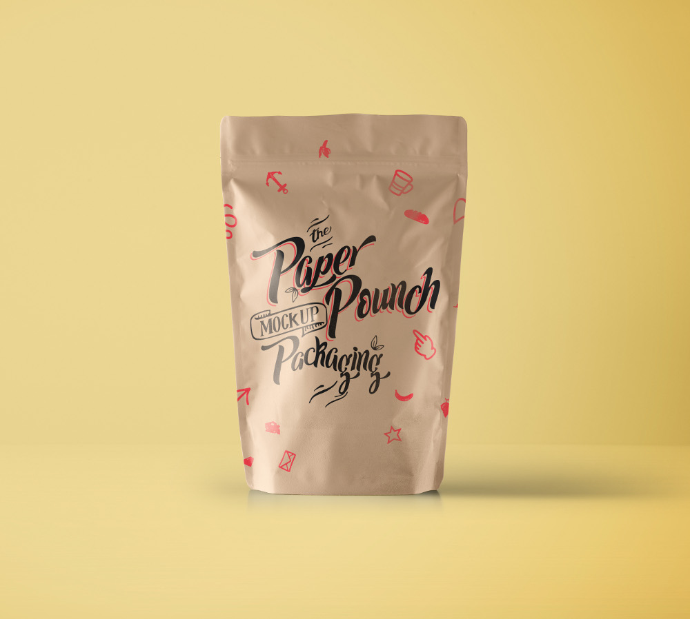 Psd Paper Pouch Packaging Vol4 by Pixeden