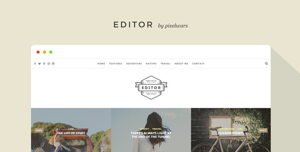 Editor - A WordPress Theme for Bloggers