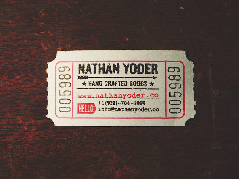personal business card by nathan douglas yoder