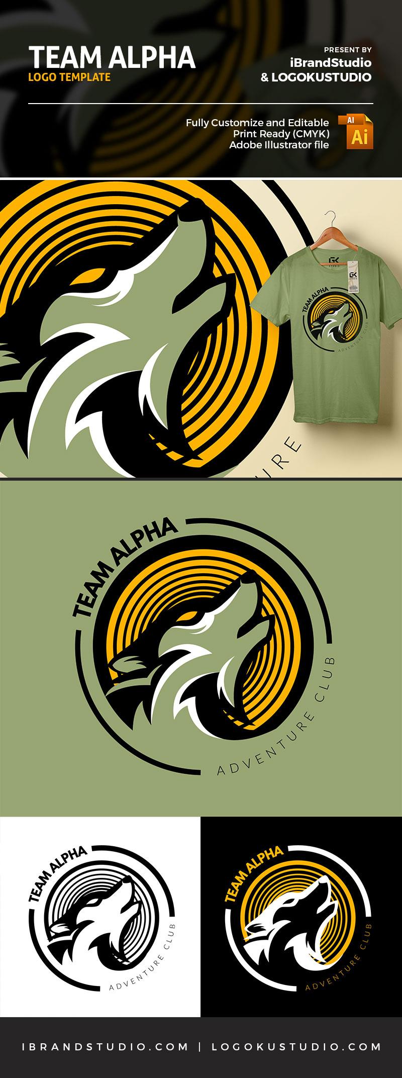 Free Team Alpha Logo Template (AI, EPS)