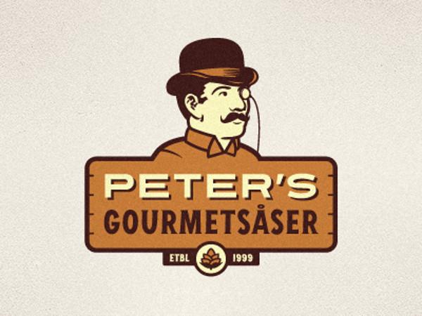 Peter's Gourmetsåser Logo by Emir Ayouni