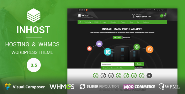 InHost | Hosting, WHMCS WordPress Theme