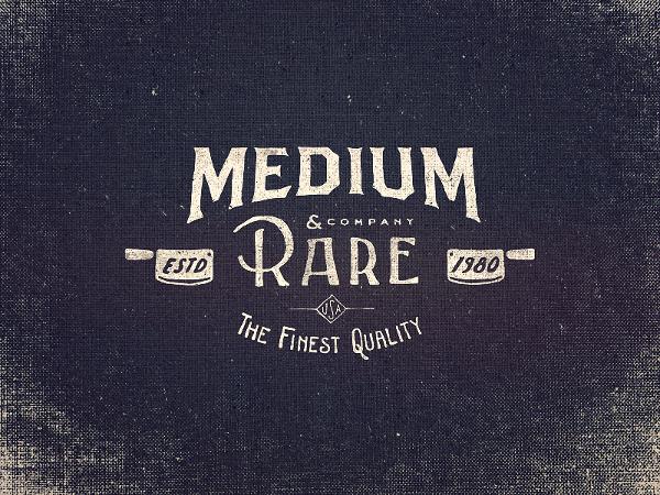 Medium Rare Wordmark by Adam Trageser