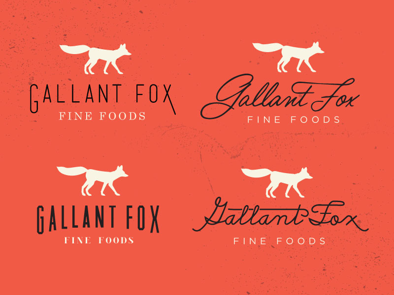 Gallant Fox Logo Concepts por Jennifer Hood