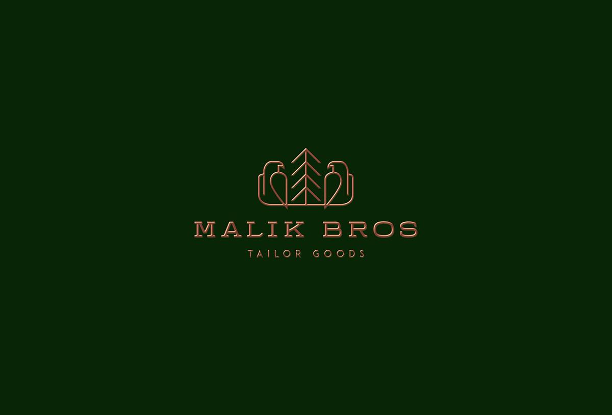 Malik Bros - Tailor Goods Logo by Sebastian Bednarek