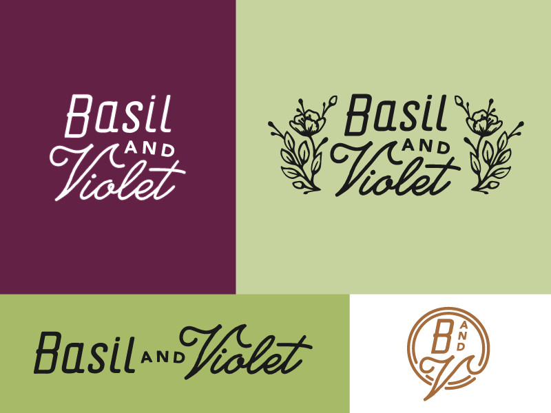 Basil & Violet Logo by Amy Hood