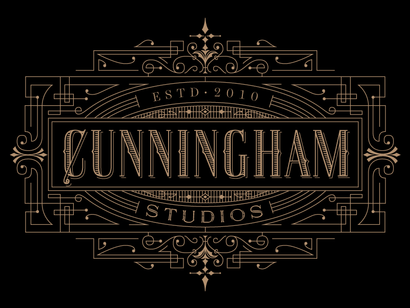 Cunningham Studios Identity by Kevin Cantrell