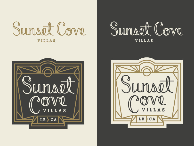 Sunset Cove Logo Concept por Jennifer Hood