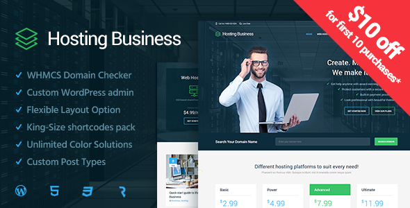 Hosting Business - Technology, Software & Hosting WordPress Theme