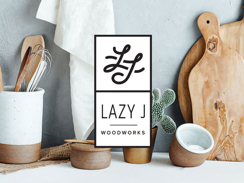 Lazy J Woodworks Logo by Cara Bell