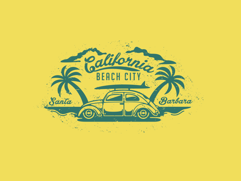 California Beach City por Daniel Bodea