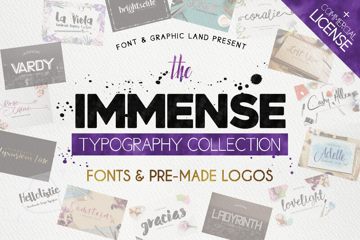 The Immense Typography Collection of 120+ Fonts & Logos - only $17!