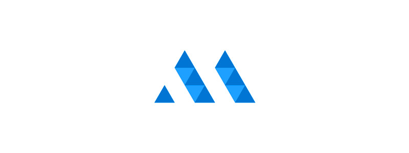 AM Geometric Monogram Logo by Alex Tass
