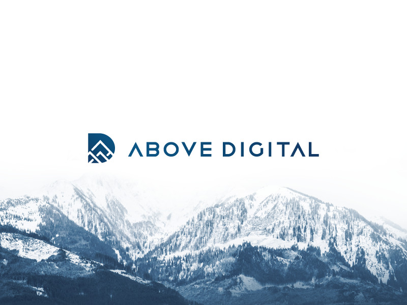 ABOVE DIGITAL logo by Aiste brand designer